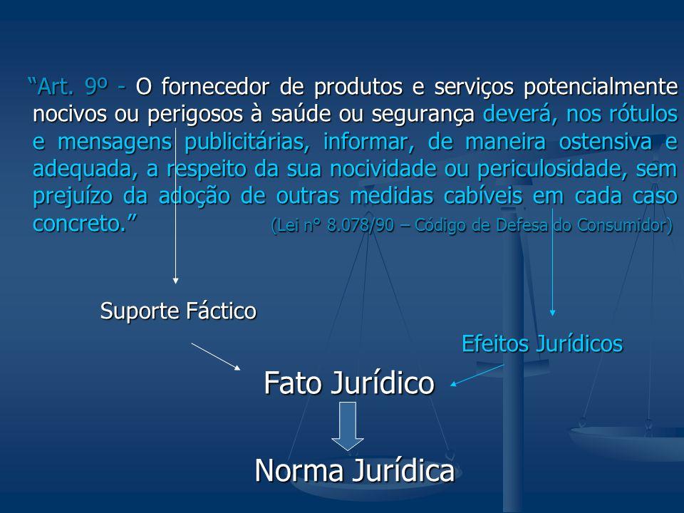 Fato Jurídico Norma Jurídica