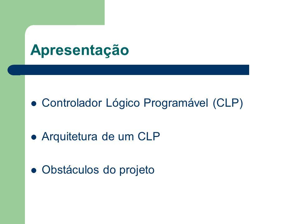 Apresentação Controlador Lógico Programável (CLP)
