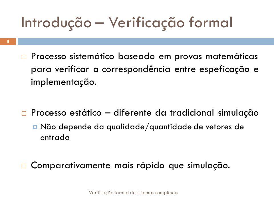 Introdução – Verificação formal