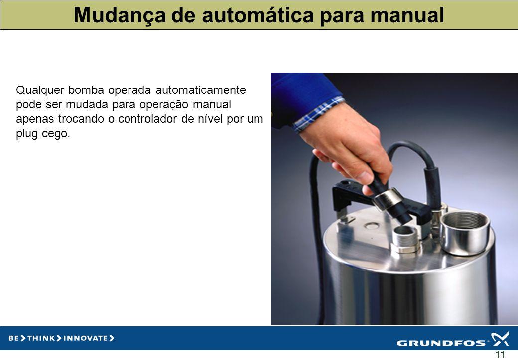 Mudança de automática para manual
