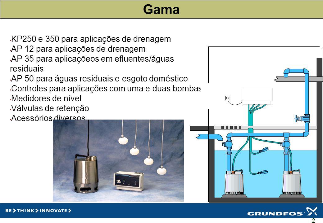 Gama KP250 e 350 para aplicações de drenagem