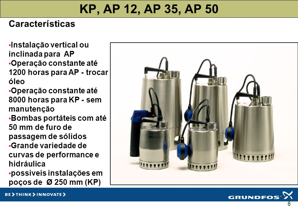 KP, AP 12, AP 35, AP 50 Características