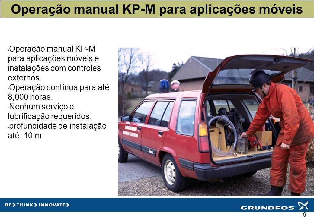 Operação manual KP-M para aplicações móveis