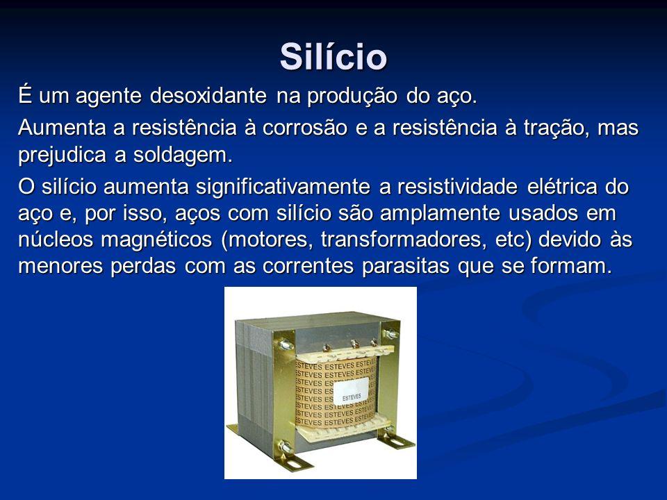 Silício É um agente desoxidante na produção do aço.