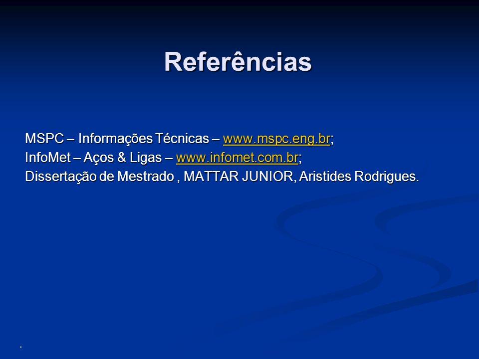 Referências MSPC – Informações Técnicas – www.mspc.eng.br;