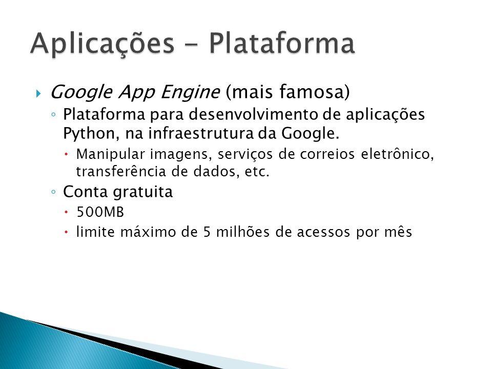 Aplicações - Plataforma