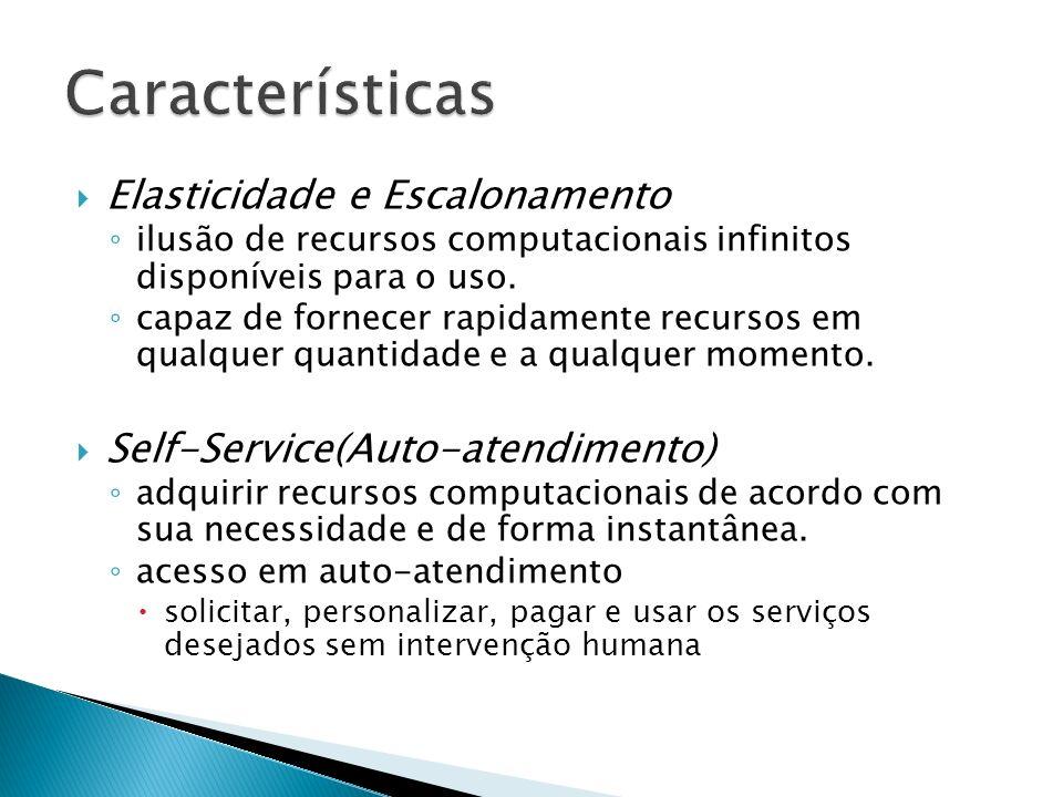 Características Elasticidade e Escalonamento