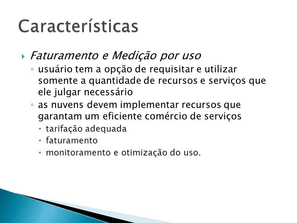 Características Faturamento e Medição por uso