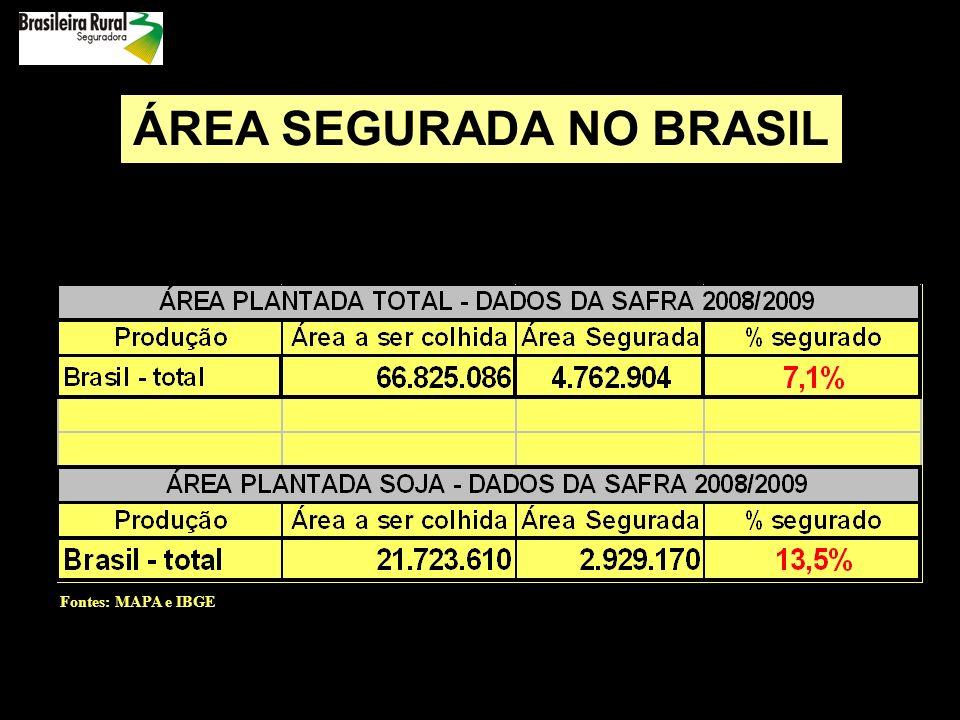 ÁREA SEGURADA NO BRASIL
