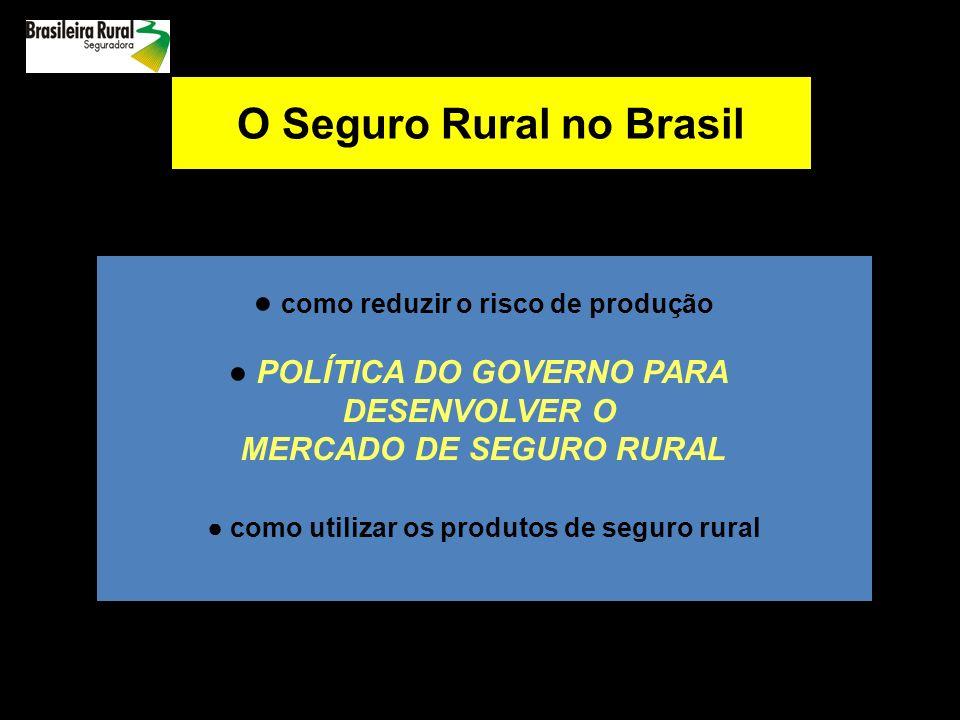 O Seguro Rural no Brasil