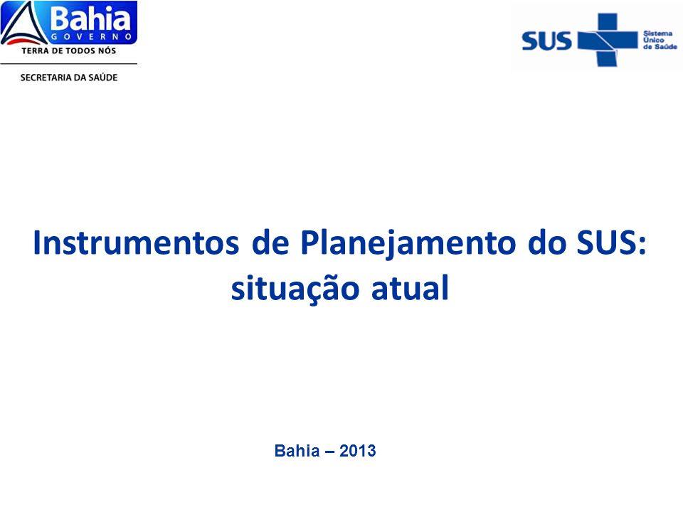 Instrumentos de Planejamento do SUS: situação atual