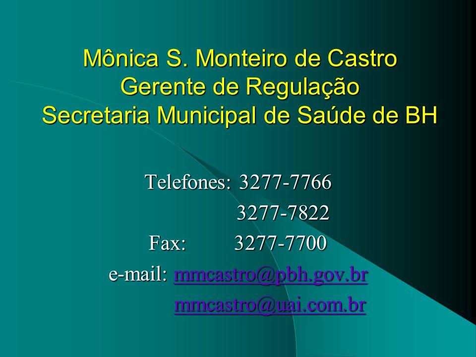 e-mail: mmcastro@pbh.gov.br