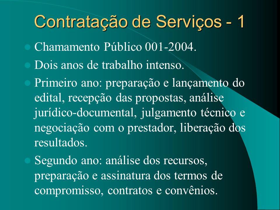 Contratação de Serviços - 1