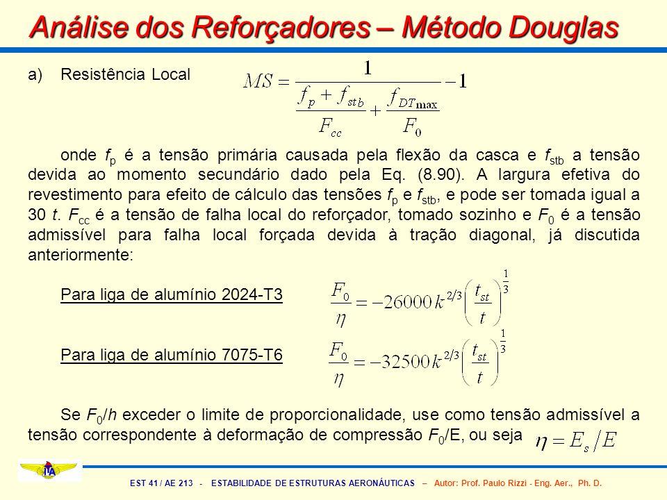 Análise dos Reforçadores – Método Douglas