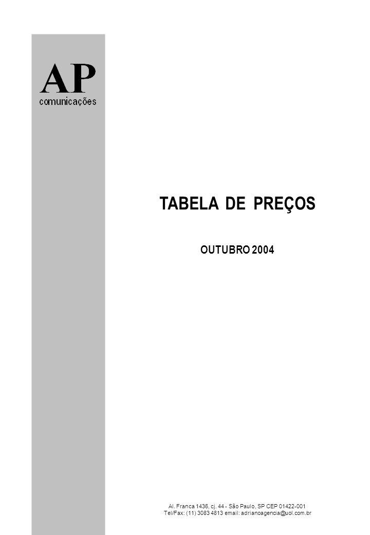 TABELA DE PREÇOS OUTUBRO 2004