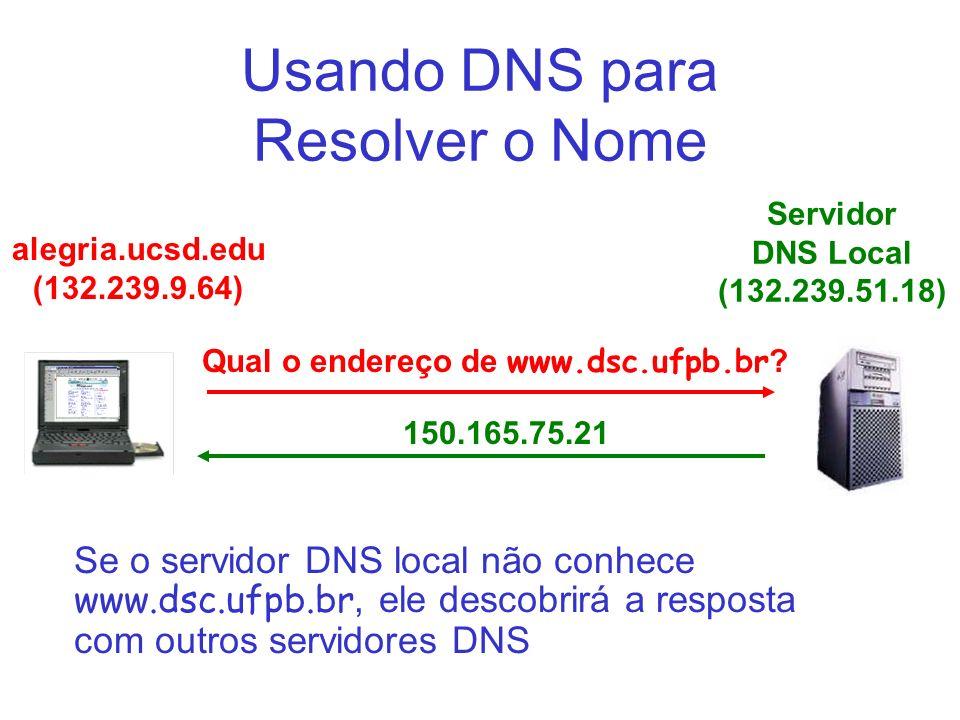 Usando DNS para Resolver o Nome
