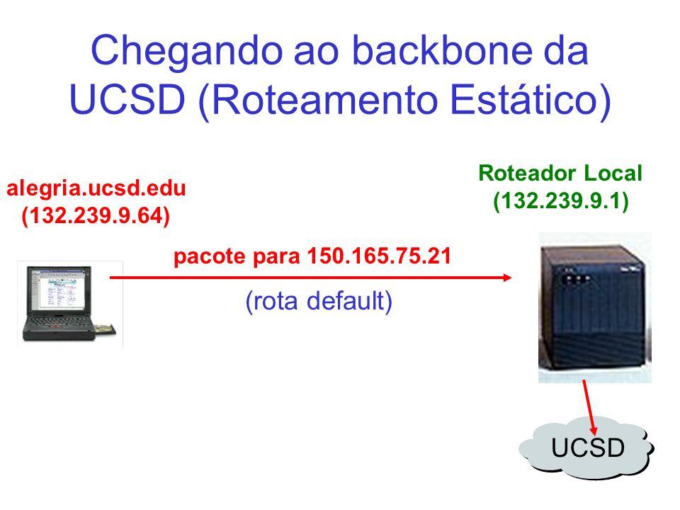 Chegando ao backbone da UCSD (Roteamento Estático)
