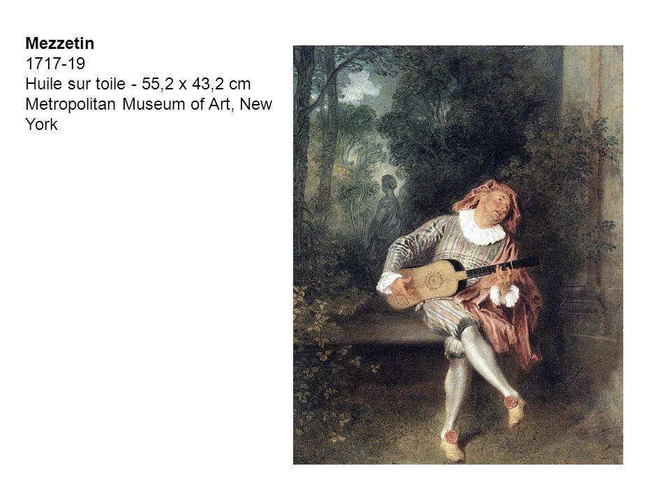 Mezzetin 1717-19 Huile sur toile - 55,2 x 43,2 cm Metropolitan Museum of Art, New York