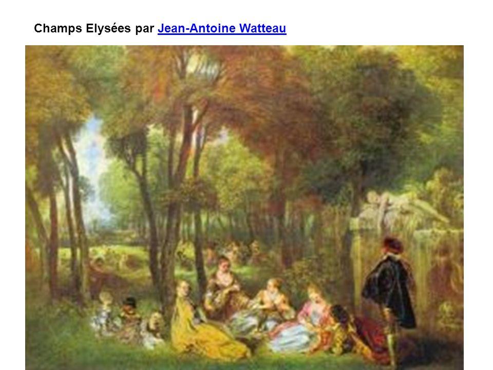 Champs Elysées par Jean-Antoine Watteau