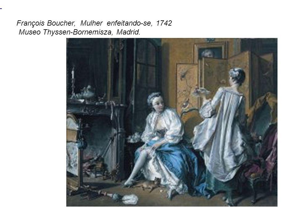 François Boucher, Mulher enfeitando-se, 1742