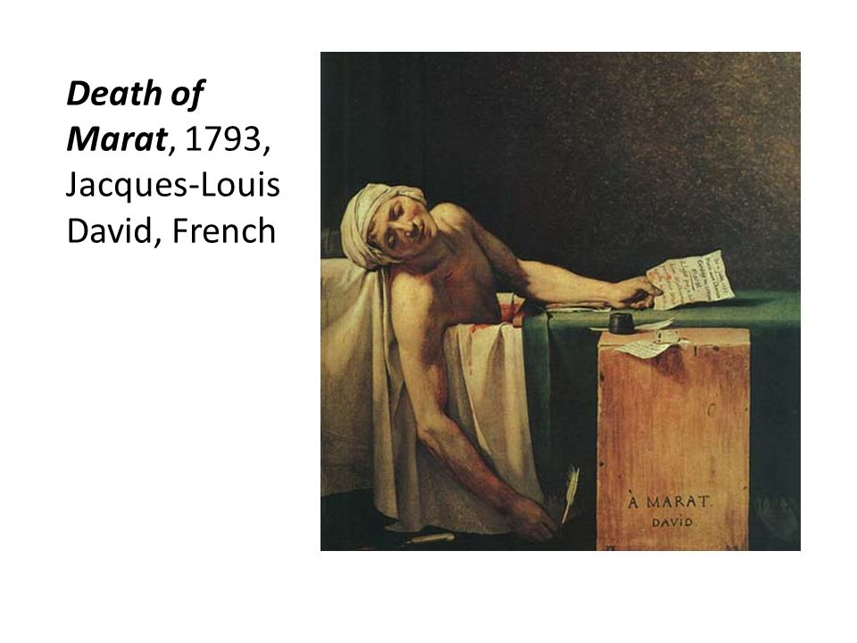 Death of Marat, 1793, Jacques-Louis David, French