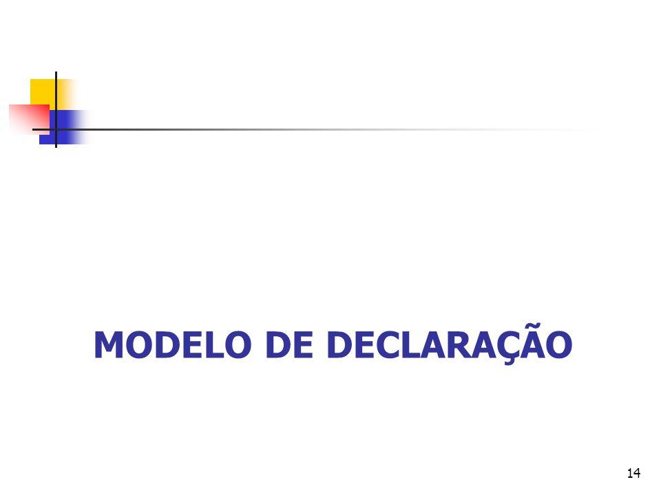 MODELO DE DECLARAÇÃO