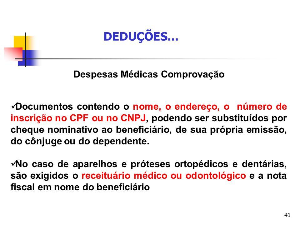 Despesas Médicas Comprovação
