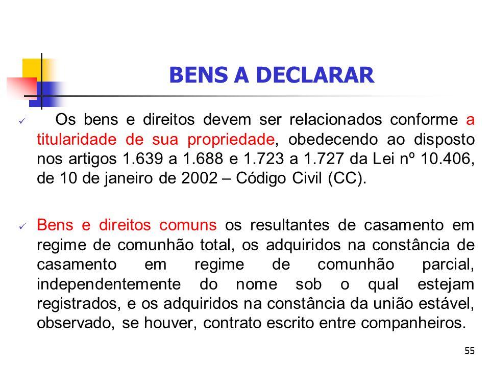 BENS A DECLARAR