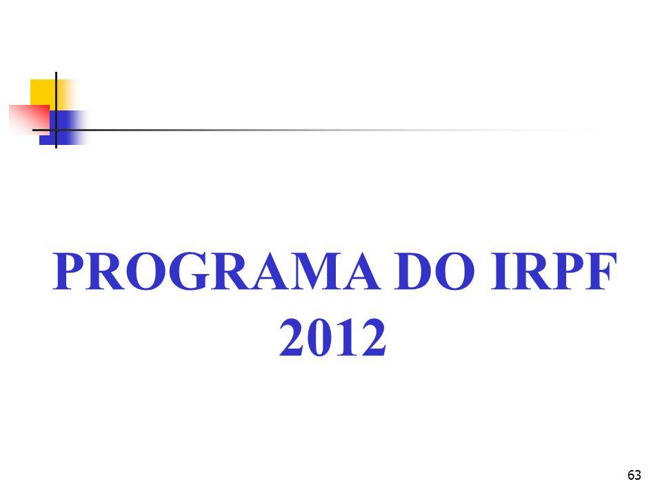 PROGRAMA DO IRPF 2012