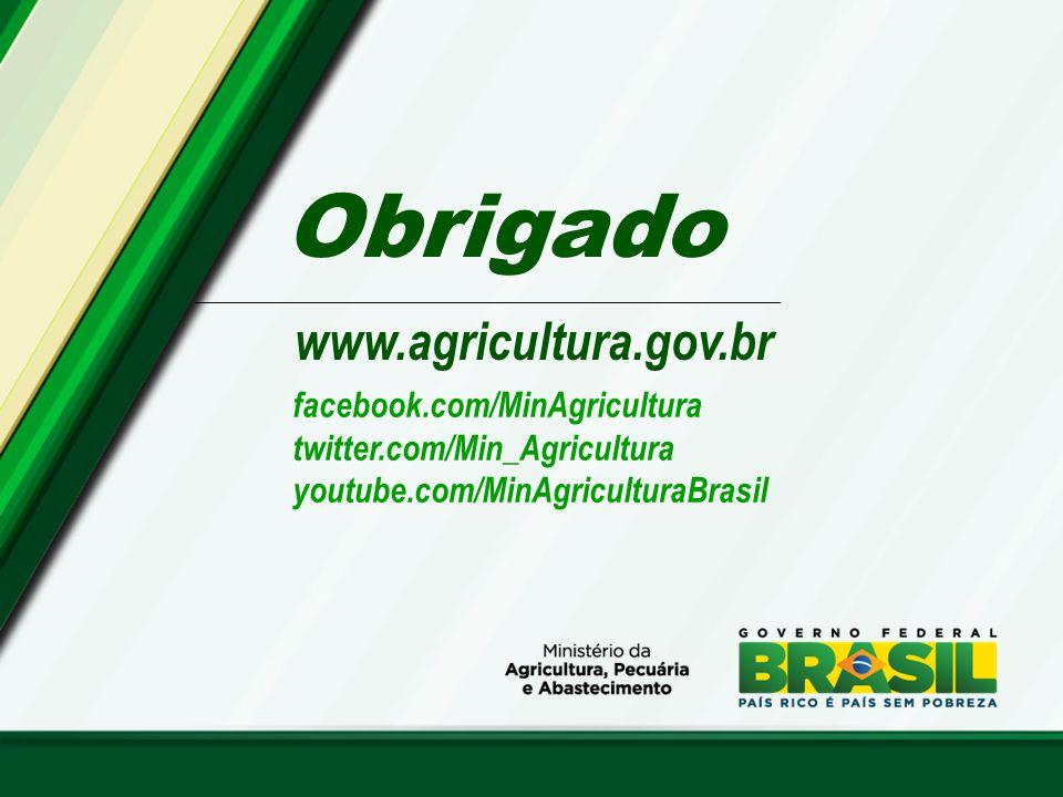 Obrigado www.agricultura.gov.br facebook.com/MinAgricultura