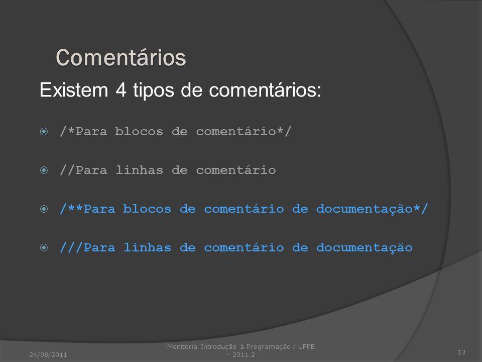 Monitoria Introdução à Programação / UFPE - 2011.2