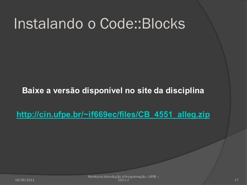 Instalando o Code::Blocks