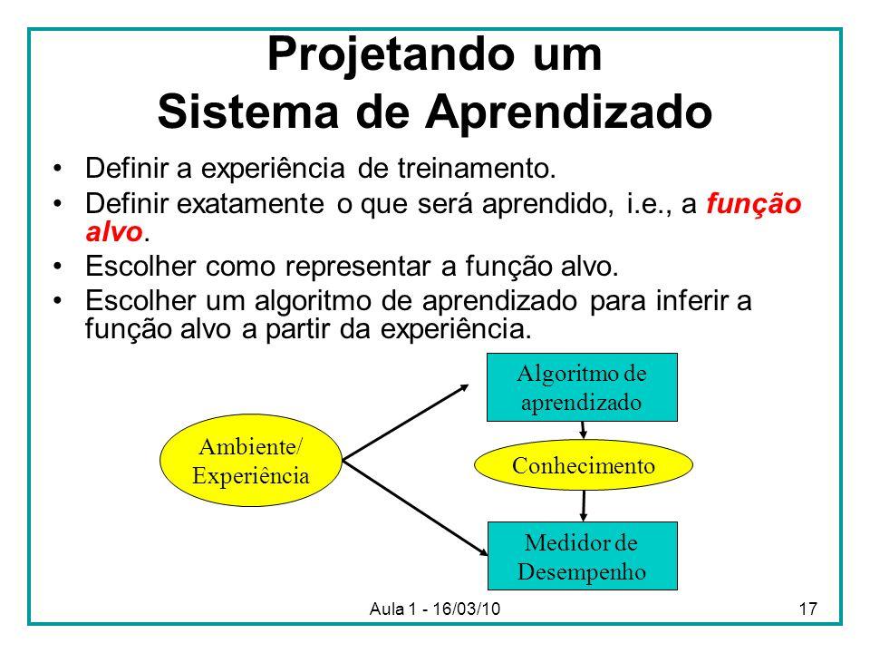 Projetando um Sistema de Aprendizado