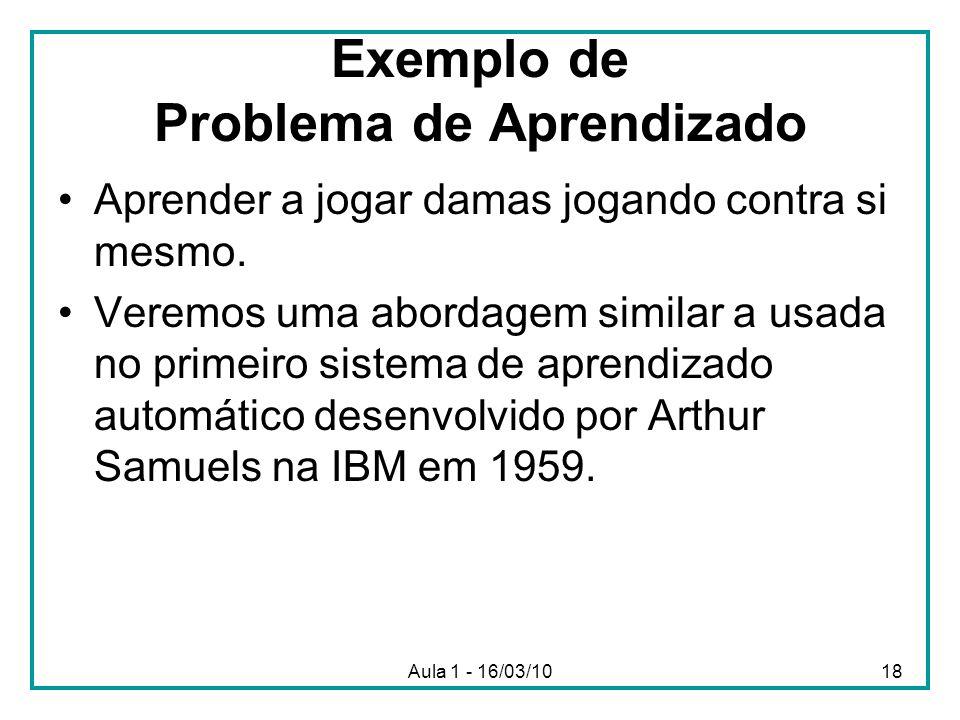 Exemplo de Problema de Aprendizado