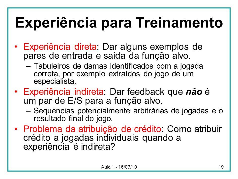 Experiência para Treinamento