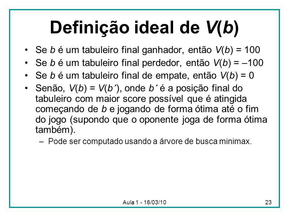 Definição ideal de V(b)