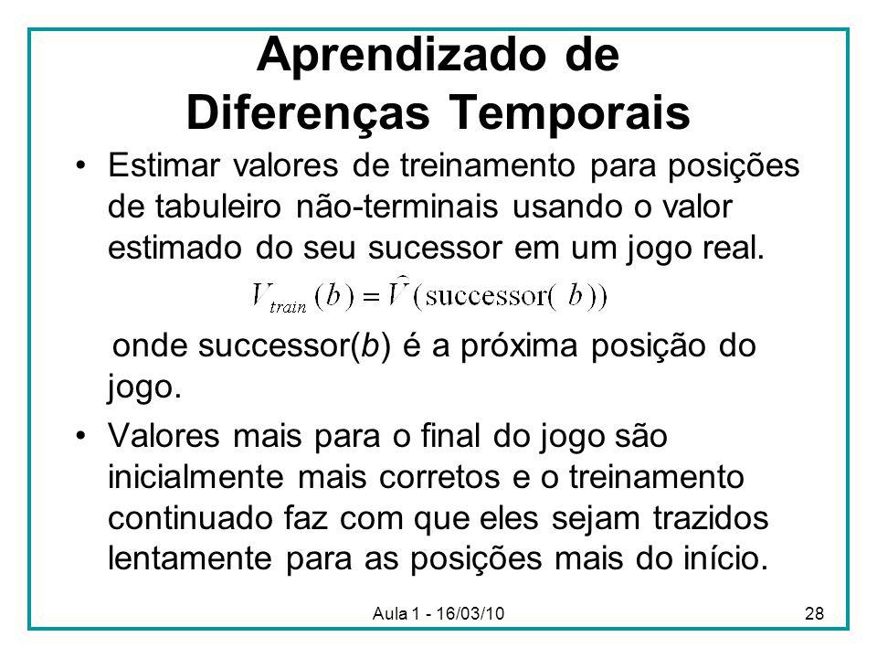 Aprendizado de Diferenças Temporais