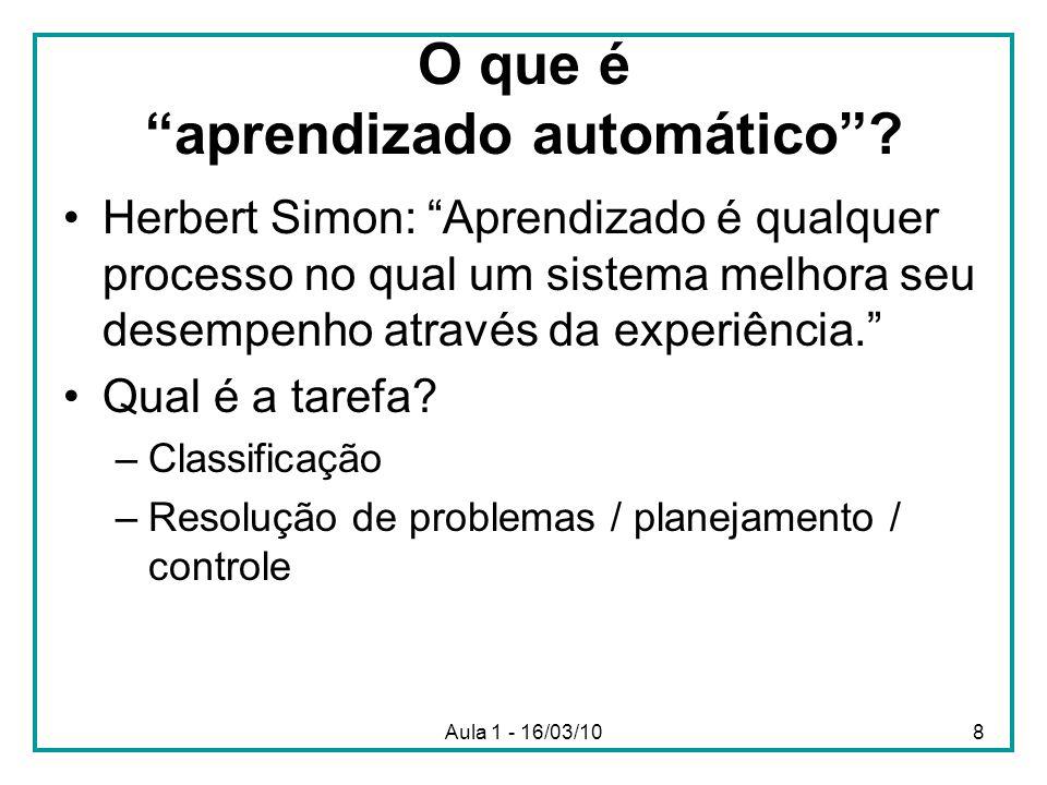 O que é aprendizado automático