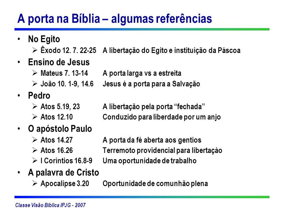 A porta na Bíblia – algumas referências