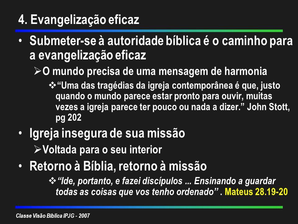 Igreja insegura de sua missão Retorno à Bíblia, retorno à missão