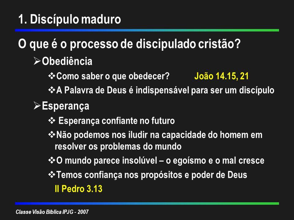 O que é o processo de discipulado cristão