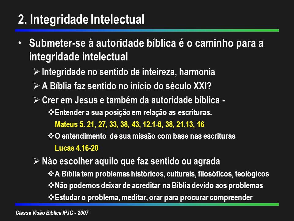 2. Integridade Intelectual