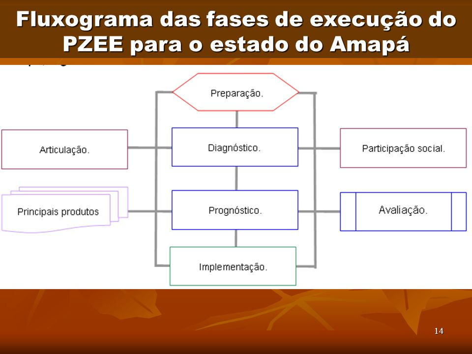 Fluxograma das fases de execução do PZEE para o estado do Amapá