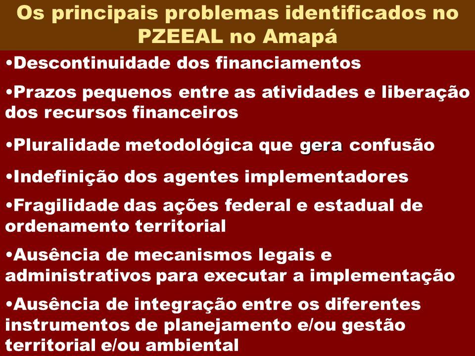 Os principais problemas identificados no PZEEAL no Amapá