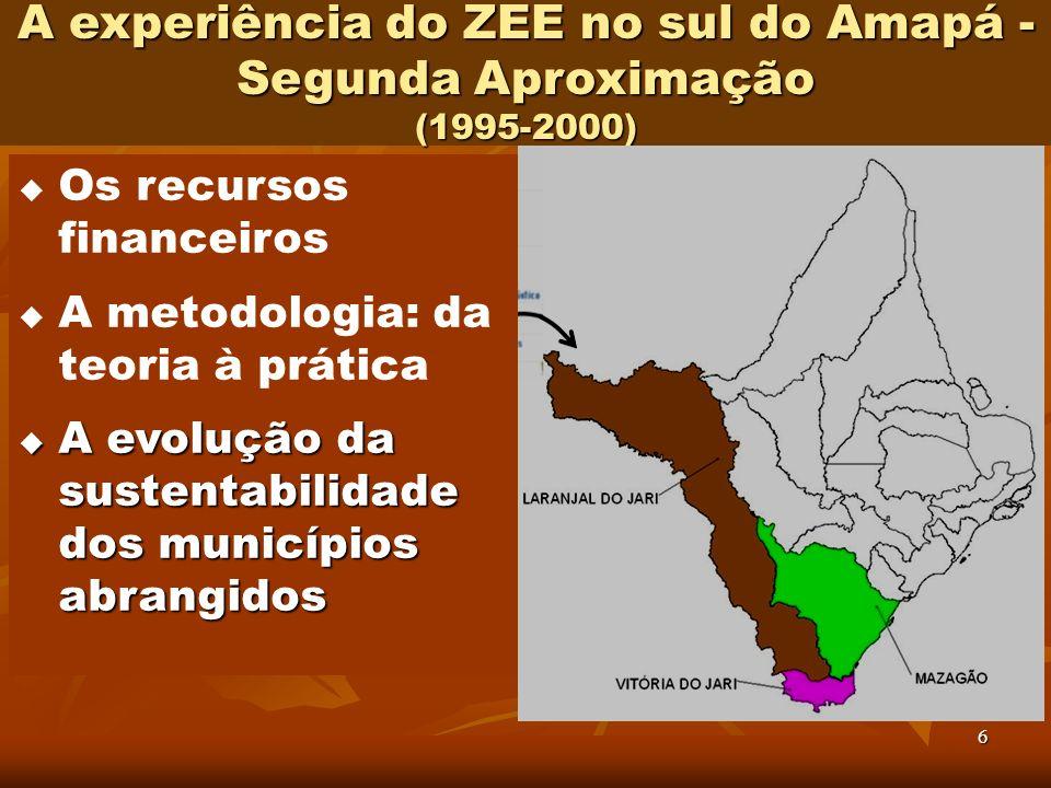 A experiência do ZEE no sul do Amapá - Segunda Aproximação (1995-2000)