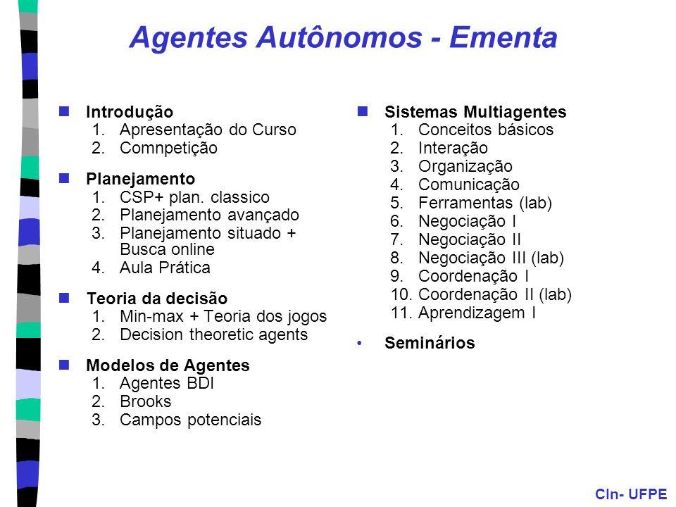 Agentes Autônomos - Ementa