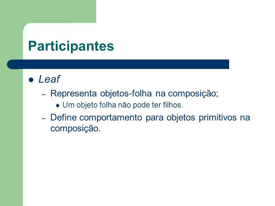 Participantes Leaf Representa objetos-folha na composição;