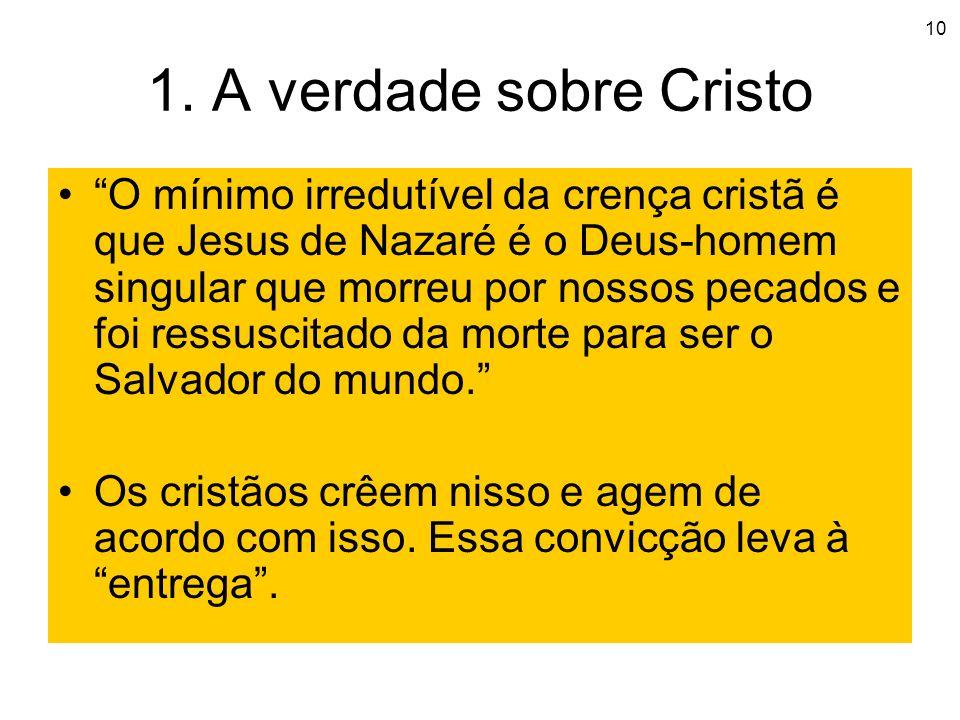 1. A verdade sobre Cristo