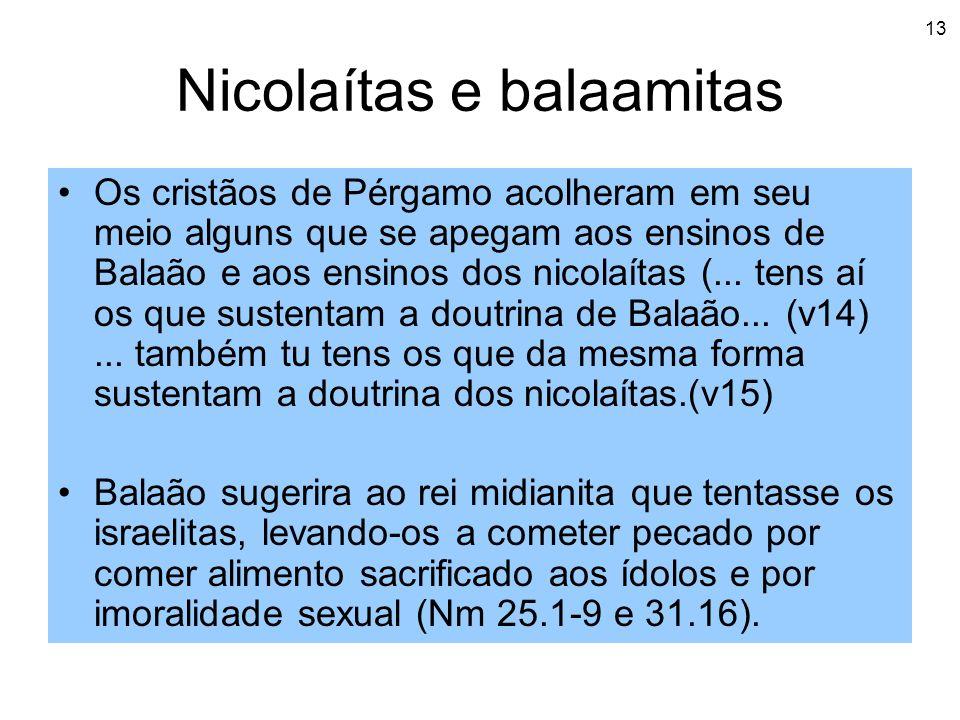 Nicolaítas e balaamitas
