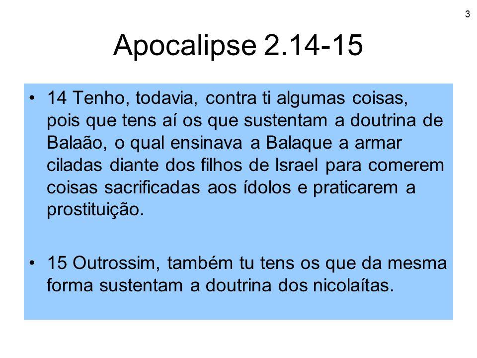 Apocalipse 2.14-15